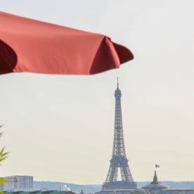 Paris-Rooftoop with umbrella 1